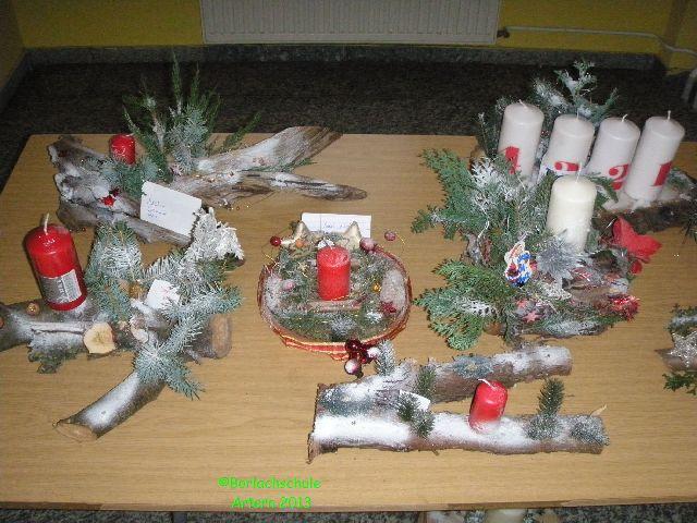 Sch ne adventsgestecke for Adventsgestecke bilder